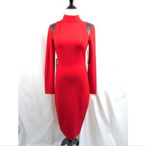 Eva Longaria for The Limited Red Power Ponte Dress